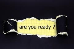 Die Frage sind Sie vorbereiten Lizenzfreies Stockbild