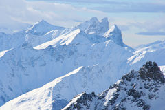 Die französischen Alpen stockbild