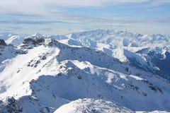 Die französischen Alpen lizenzfreie stockbilder