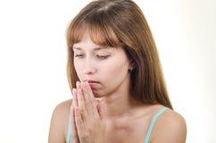 Die Frau betet Lizenzfreie Stockfotografie