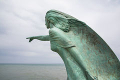 Die Frau des Fischers Stockbild