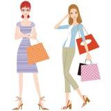 Die Frau, die das Einkaufen tut Lizenzfreie Stockfotografie