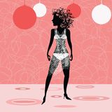 Die Frau in einer Disco Stockbilder