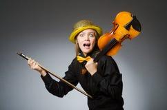 Die Frau im musikalischen Kunstkonzept Lizenzfreie Stockfotografie