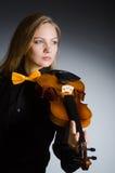 Die Frau im musikalischen Kunstkonzept Lizenzfreie Stockbilder