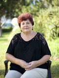 Die Frau ist älter Lizenzfreie Stockbilder