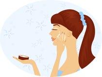 Die Frau mit Kosmetik Lizenzfreies Stockbild