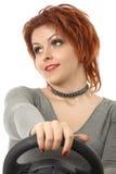 Die Frau am Rad Lizenzfreies Stockfoto