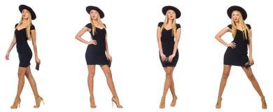 Die Frau schaut in Mode auf Weiß lokalisiert Lizenzfreie Stockfotografie