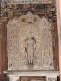 Die Freskos sind innerhalb der Tempel der Westgruppe einschließlich Visvanatha-Khajuraho, Madhya Pradesh, Indien, UNESCO erotisch stockfotos