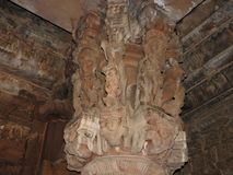 Die Freskos sind innerhalb der Tempel der Westgruppe einschlie?lich Visvanatha-Khajuraho, Madhya Pradesh, Indien, UNESCO erotisch stockbilder