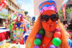Die Freude am Karneval in Surabaya stockbild