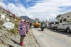 Die Freude am Werbewohnwagen - Tour de France 2015 Stockfotos