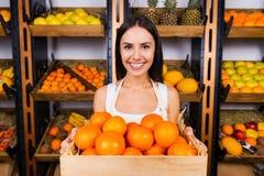 Die frischsten Tangerinen für Sie Lizenzfreies Stockfoto