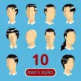 die 10 Frisuren der Männer Lizenzfreies Stockfoto