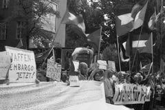 Die Front der Demonstration Stockfotografie