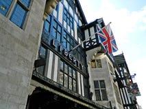 Die Front des Speichers rief Liberty in London an Lizenzfreies Stockbild