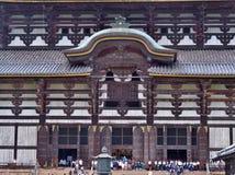 Die Front von großem Buddha Hall an Todai-jitempel Lizenzfreie Stockbilder