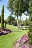Die Gärten an Flor-og Fjaere stockbilder