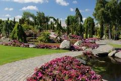 Die Gärten an Flor-og Fjaere stockfotos