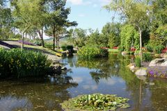 Die Gärten an Flor-og Fjaere lizenzfreie stockbilder