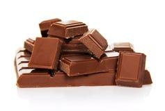 Die ganze Fliese der Milchschokolade Lizenzfreies Stockfoto