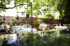 Die Garten-Gaststätte Stockbild