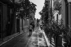 Die Gasse in Athen Stockfotografie