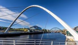 Die Gateshead-Jahrtausend-Brücke England Großbritannien Stockfotografie