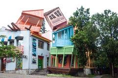 Die Gebäude in Mtatsminda parken in Tiflis, Hauptstadt von Georgia Lizenzfreies Stockfoto