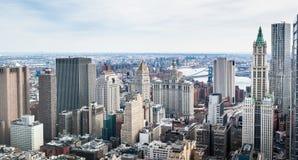Die Gebäude von Manhattan stockfoto