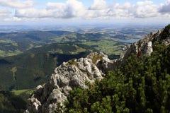 Die Gebirgslandschaft um Feuerkogel, Salzkammergut, Salzburg, Österreich Lizenzfreies Stockfoto