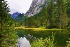 Die Gebirgslandschaft um Gosausee, Salzkammergut, Salzburg, Österreich Lizenzfreies Stockbild