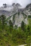 Die Gebirgslandschaft um Gosausee, Salzkammergut, Salzburg, Österreich Stockfotos