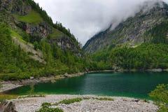 Die Gebirgslandschaft um Hintere Seealm, Salzkammergut, Salzburg, Österreich Stockbild