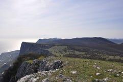 Die Gebirgsspitze von Foros stockbilder