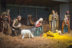 Die Geburt Christisszene. Stockfoto