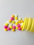 Die Gefahren des Antidepressivums Stockfotografie
