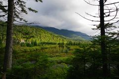 Die geflossenen Länder in den Adirondack-Bergen, Region der hohen Spitzen Lizenzfreies Stockbild