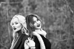 Die Geheimnisse der Frauen Frauen mit Schal Lizenzfreies Stockfoto