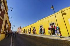 Die gelbe klare Straße Lizenzfreie Stockfotos