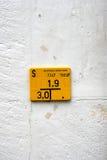 Die gelbe Platte in Basel Stockbilder