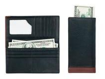 Die Geldbörse der Männer mit Geld Lizenzfreies Stockbild