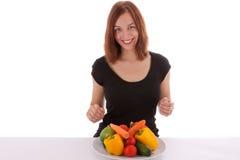 Die Gemüseplatte Lizenzfreies Stockfoto