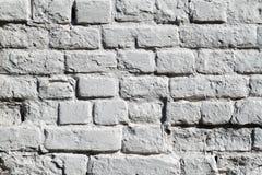 Die gemalte Backsteinmauer Stockbild