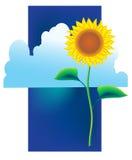 Die gemalte Sonnenblume Lizenzfreie Stockfotos