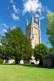 Die Gemeinde-Kirche von St Cuthbert Wells Lizenzfreies Stockfoto