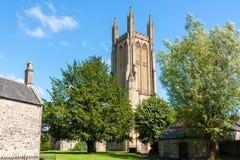 Die Gemeinde-Kirche von St Cuthbert Wells Lizenzfreie Stockfotos