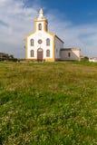 Die Gemeindekirche von Flor da Rosa, in der der Ritter Alvaro Goncalves Pereira vorübergehend begraben wurde Lizenzfreie Stockfotos