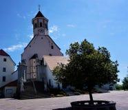 Die Gemeindekirche von Ptujaska Gora Stockbilder